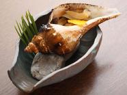 ニシ貝のつぼ焼き