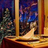 冬の森を眺めながらの至福ディナー