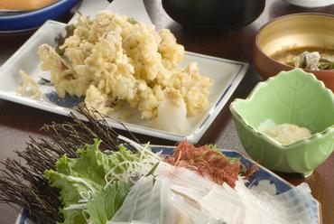 鐘崎産名物イカ定食