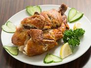 鴨肉を使った『自家特製パリパリ鶏』