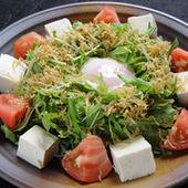 水菜とジャコの豆腐サラダ
