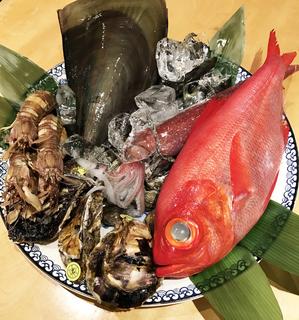 毎日新鮮な魚介類