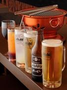 ビール・マッコリ・焼酎等各種取り揃えております。