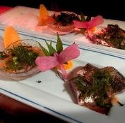 秋刀魚の肝造りを主に3種盛り合わせにしました。