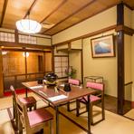 京都の風情を感じることができる店内も当店の魅力の一つ