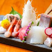 旬な鮮魚の熟成お造り盛り合わせ