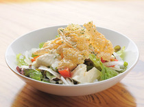 近喜さんのおぼろとうふと甘湯葉の京風サラダ