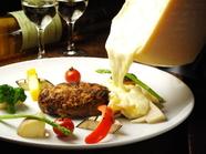 季節野菜と極みハンバーグ~ラクレットチーズがけ(17時以降可)
