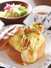 焼きパンカレー サラダ・スープ付き