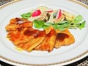 広島産のコウネでカマンベールチーズくるみ揚げた一品。