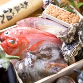 本日の仕入れの魚の一部です。