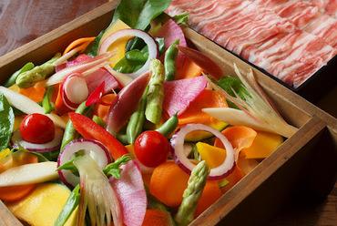 福岡 「糸島産」豚と季節野菜のせいろ蒸し