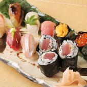 吟味・厳選した旬の魚介類を使った『ゆあさ』のお寿司は絶品!