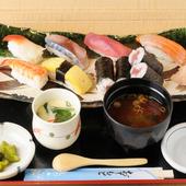 こだわりの握り寿司をランチもお得に楽しめます。