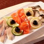 燻製魚の盛り合わせ