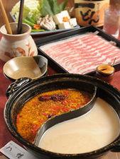 健康長寿しゃぶ鍋と塩とんこつしゃぶ鍋