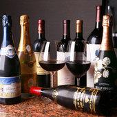 ワインも各種取り揃えております