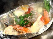 旬魚介のアクアパッツァ