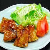 マグロ生姜焼