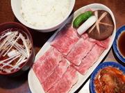 良質なお肉です。写真はスープ付プラス210円となります。国産牛を国内加工しております。