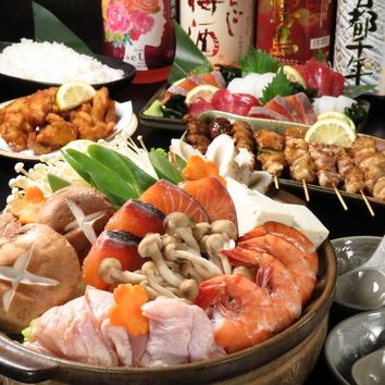 選べるお鍋コース。飲み放題付き。クーポン利用で3500円