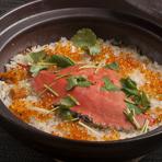 ワタリ蟹の炊き込みご飯