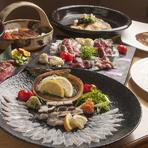 瀬戸内の食材を使用した大将自慢の絶品創作料理。要予約。