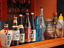 焼酎・生ビール・地酒等、常時約50種類ご用意しております。