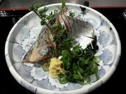 脂のってます。今日の鯵は宮崎県産の鯵です。