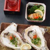 旬の魚介を肴に、充実の焼酎や日本酒をお愉しみ下さい。