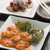 エビチリ・酢豚