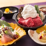 ランチは2500円~とリーズナブル。最高級神戸牛の懐石料理をはじめ、山と海の自然の恵みがあふれた神戸ならではの食材を使った料理長自慢の懐石料理をお楽しみ下さい。
