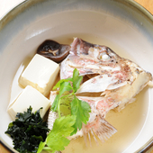 鯛のカブト(酒蒸し)