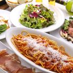 地野菜の温かいサラダ、4種類のチーズソース