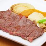 肉の美味しさをダイレクトに味わえる『おすすめ豊後牛鉄板焼』
