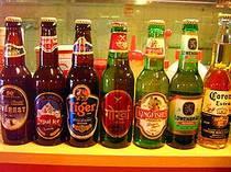 世界のビール楽しめます。