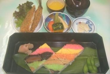ふるさと館伝統の味。郷土料理の安城箱寿司!