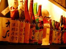 地酒/焼酎充実。地酒や鹿児島のお酒が充実です