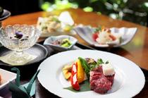 和牛の石焼きステーキと天ぷらコース