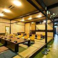 JR新山口駅から徒歩3分というアクセスの良さは宴会にもおすすめ。山口県産食材を中心に、鮮魚はもちろん野菜・肉・地酒と楽しめる宴会コースは3150円からで、最大40名様までの人数、予算に合わせて相談可能です。