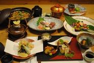季節の食材を使った日本料理が楽しめます『夜の会席』