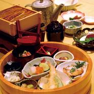・半切桶盛り・蒸籠御飯・茶漬けだし・香物・お味噌汁・デザート ※各日限定20食