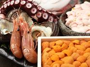 刺身はもちろん焼きも天ぷらも絶品 ◇ 鮮度抜群の魚介類