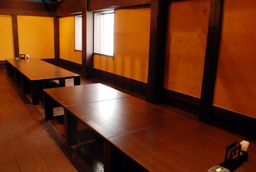 2階の広い団体席