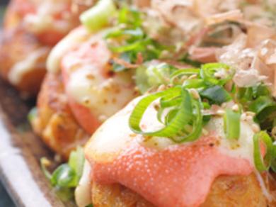 明太マヨとチーズが決めてのスペシャルメニュー「めんたい焼き」