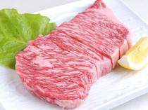 上質な牛肉の味が口の中いっぱいに広がる『上ロース』