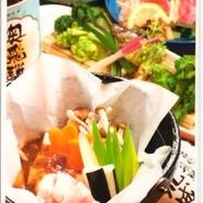郡上八幡の古くから伝わる家庭料理、野菜・茸・肉を郡上味噌で焼きながらお召し上がりください。