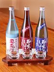 飛騨の吟醸酒を飲み比べ!期間限定の銘酒をお楽しみいただけます。 お気に入りがあればグラス・ボトルで
