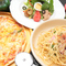 ピッツェリアローマセット ニース風サラダピザ、パスタ1品ずつ