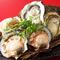 新鮮素材をふんだんに使った『岩牡蠣の刺身と殻付ホタテ』